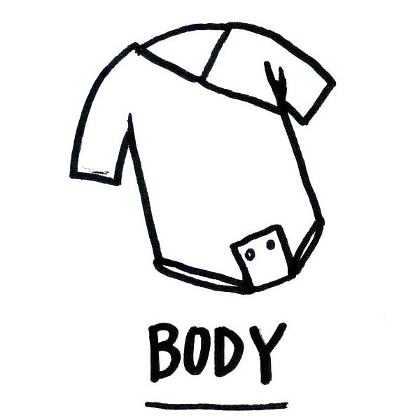 Dona un body per neonato