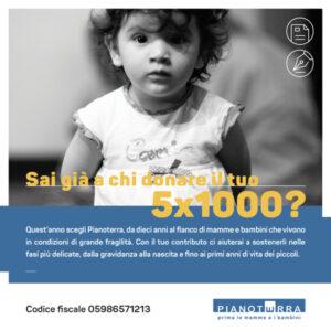 Dona il tuo 5x1000 a Pianoterra
